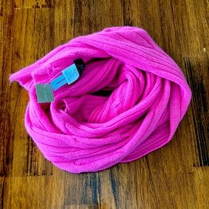 FINAL PRICE ⬇️ NEW J. Crew 100% Cashmere Pink Chunky Knit Scarf